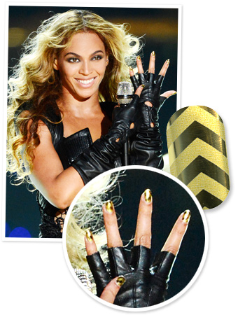 Beyonce Nails Super Bowl Manicure
