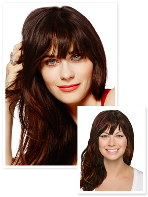 Zooey Deschanel Hair - Bangs
