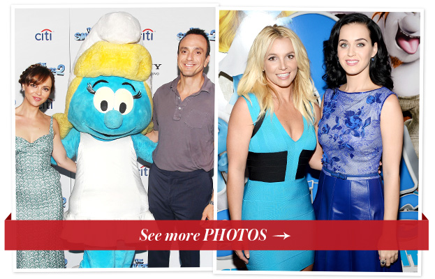 Katy Perry, Britney Spears and Christina Ricci Celebrate <em>The Smurfs 2</em> From Coast to Coast
