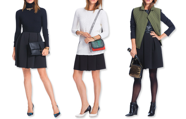 We Figured It Out: 3 Ways to Wear 1 Pleated Skirt