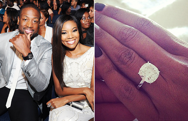 Gabrielle union and dwyane wade are engaged see the big rock dwyane wade and gabrielle union junglespirit Gallery