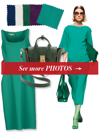 Emerald green dress what color shoe to wear with blue dresses