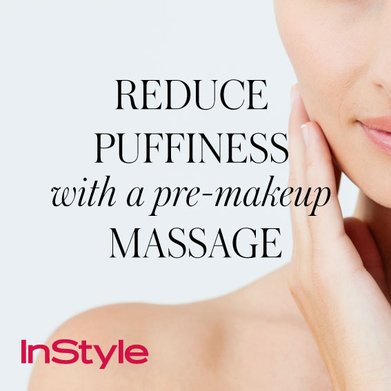 20 tips - Reduce Puffiness with a Pre-Makeup Massage
