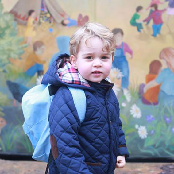<p>Prince George Starts His First Day of Nursery School</p>