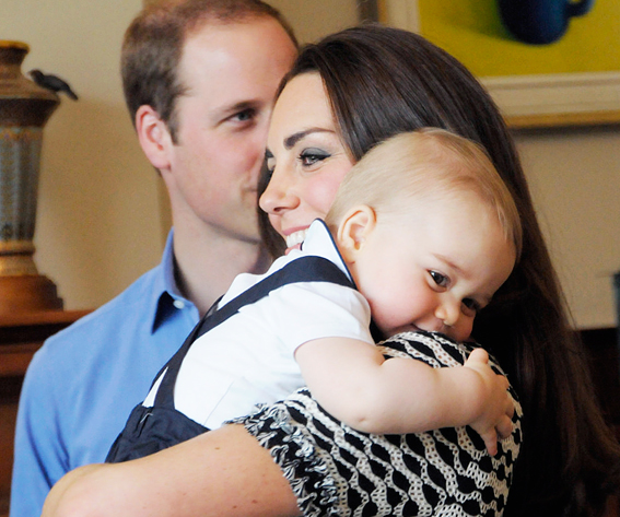 Prince George Rests His Head