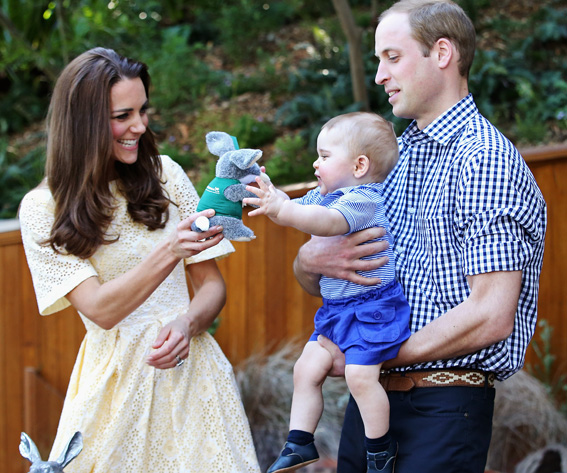 Prince George of Cambridge and Catherine, Duchess of Cambridge and Prince William, Duke of Cambridge
