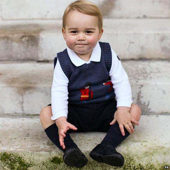 Prince George Christmas Pictures