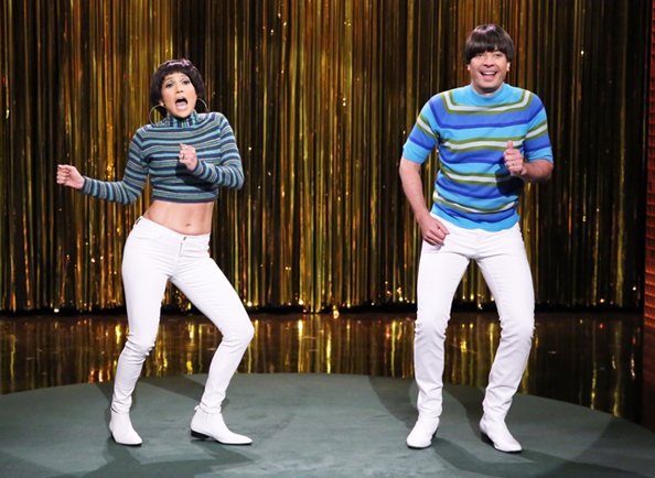 "Jennifer Lopez and Jimmy Fallon Make Dancing in ""Tight Pants"" Look Oh So Good"