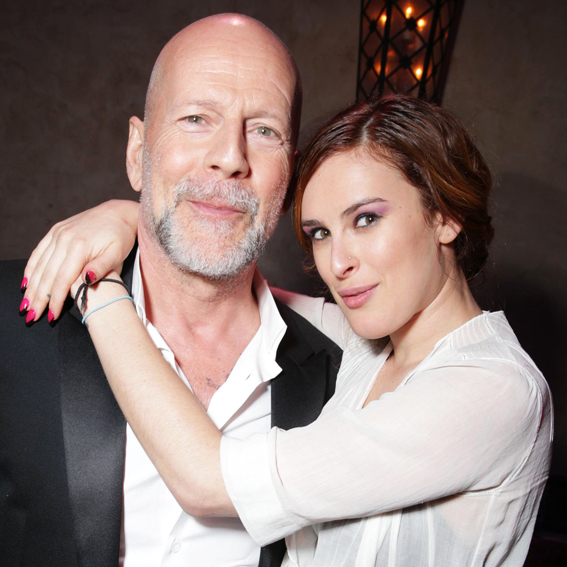Rumer and Bruce Willis