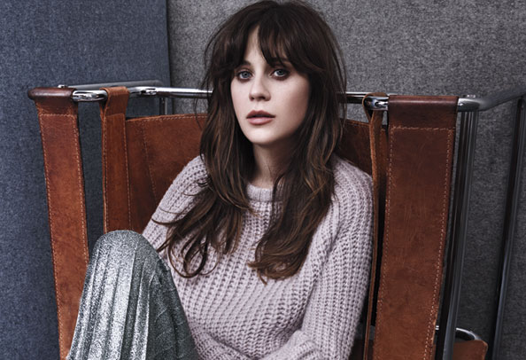 "Zooey Deschanel Shows Her ""Fiery Feminist Side"" In the August Issue of InStyle"