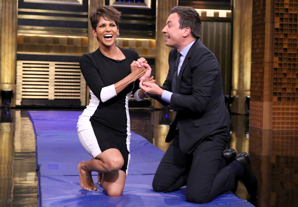 Only Halle Berry Could Look This Good While Tumbling with Jimmy Fallon