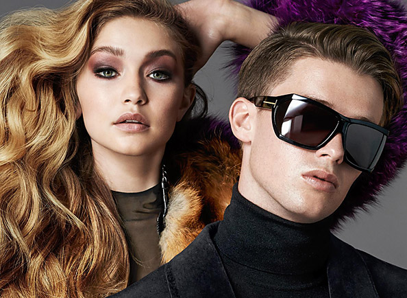 Gigi Hadid and Patrick Schwarzenegger Cozy Up in Tom Ford Eyewear Campaign