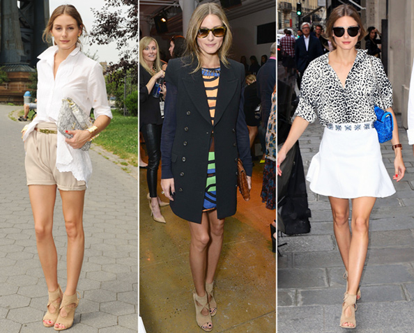 Olivia Palermo in Aquazzura Shoes