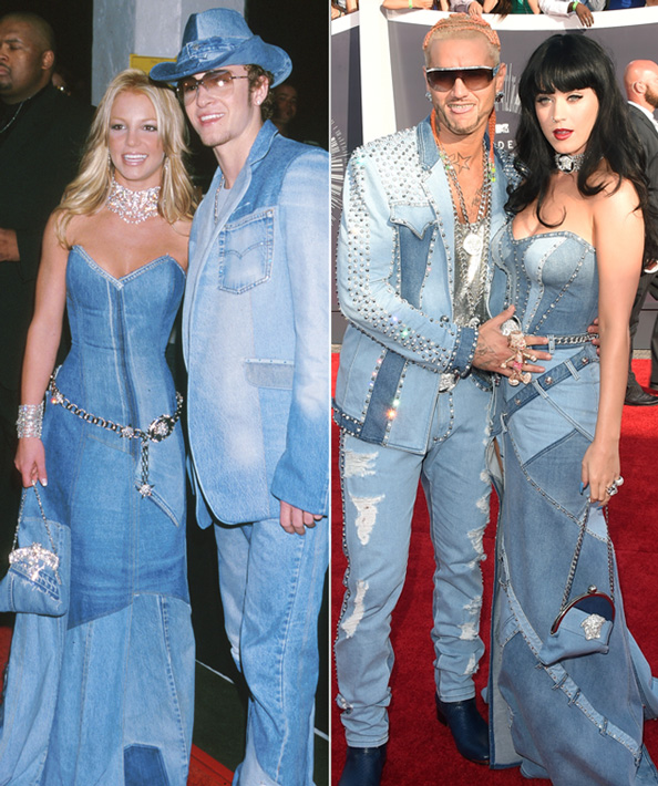 Katy Perry Dresses Like Britney Spears in All-Denim Gown at the 2014 VMAs!