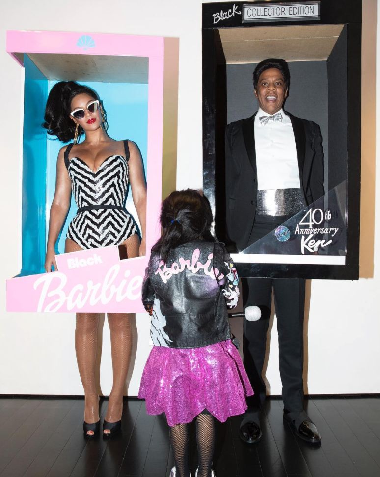 <p>Beyoncé, Jay Z, and Blue Ivy</p>