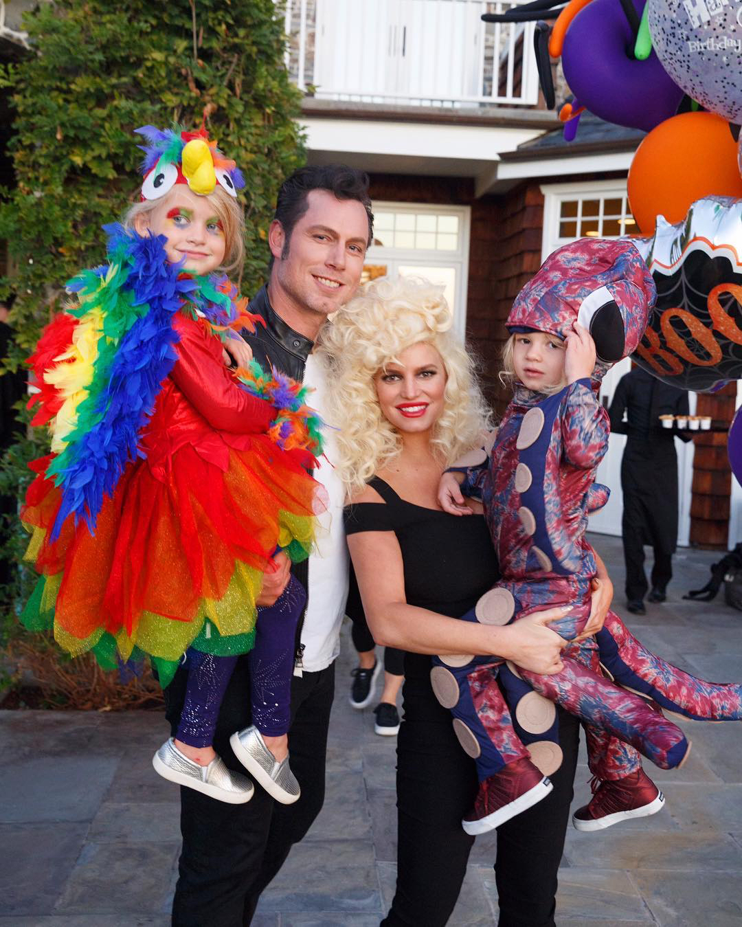 <p>Jessica Simpson, Eric Johnson, Maxwell Drew, and Ace Knute</p>