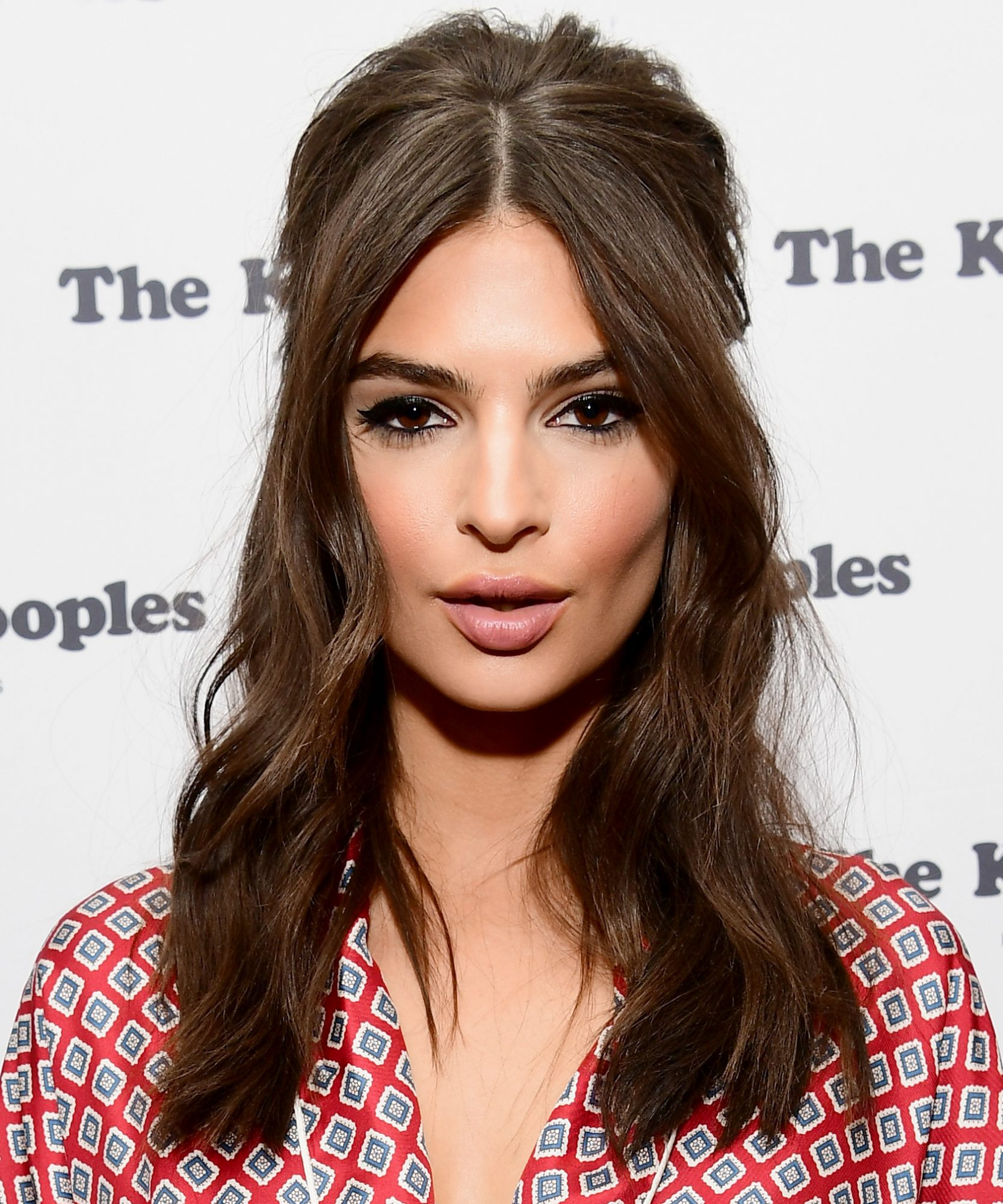 <p>Emily Ratajkowski's Half-Up Half-Down Bouffant </p>