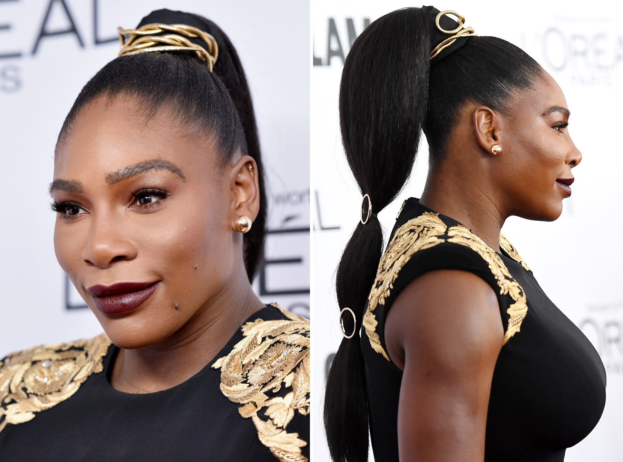 Serena Williams's Three-Tiered Ponytail