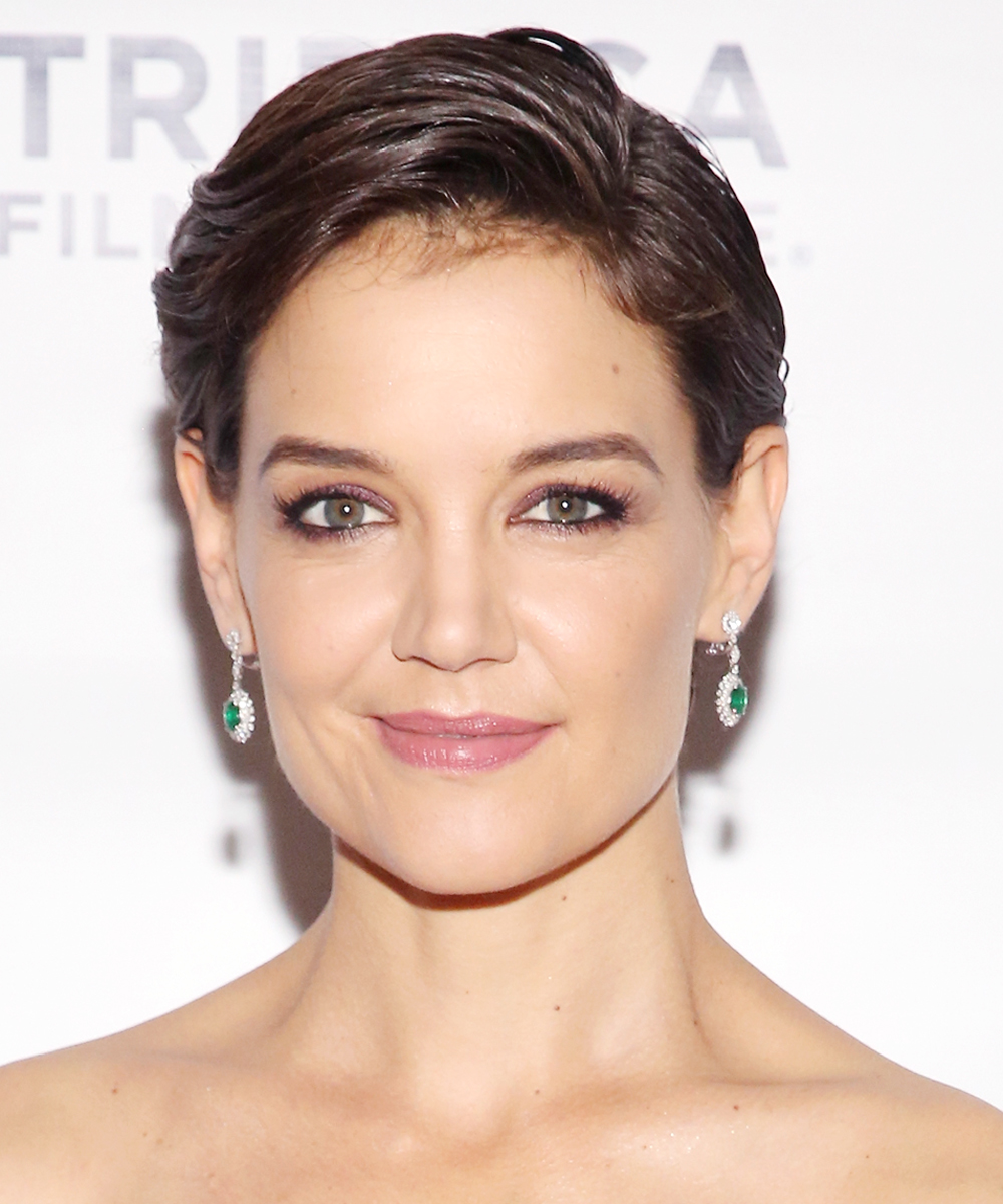 <p>Kate Holmes's Slicked-Back Pixie</p>