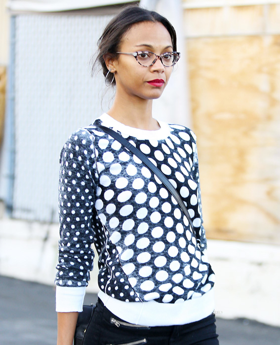 Celebs in Glasses: Zoe Saldana