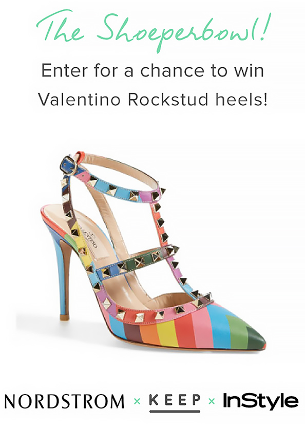 Shoe-per Bowl! Enter to Win a Pair of Valentino Heels from Keep and Nordstrom