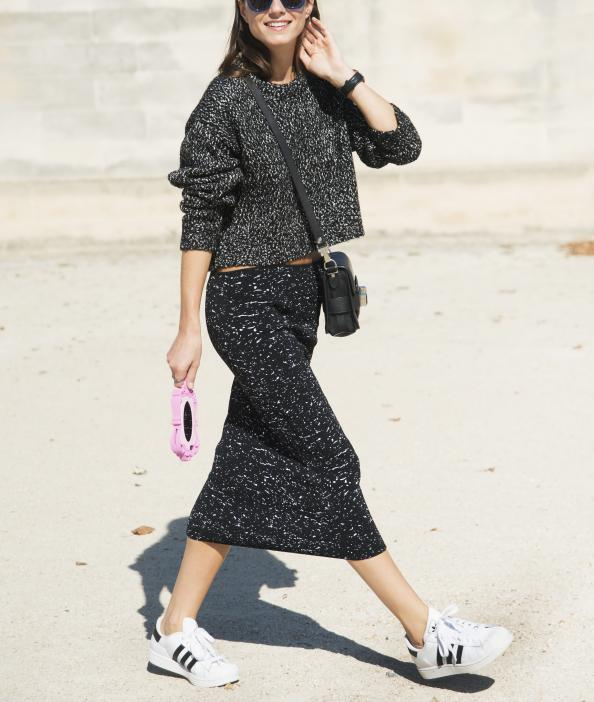 7 Surefire Ways to Pull Off Sneakers and Skirts