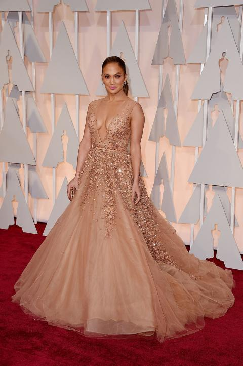 Jennifer Lopez S 2015 Oscars Dress Instyle Com