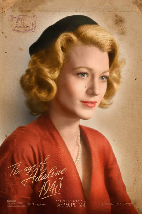 Blake Lively Is a 1940's Beauty in This Exclusive New <em>The Age of Adaline</em> Poster
