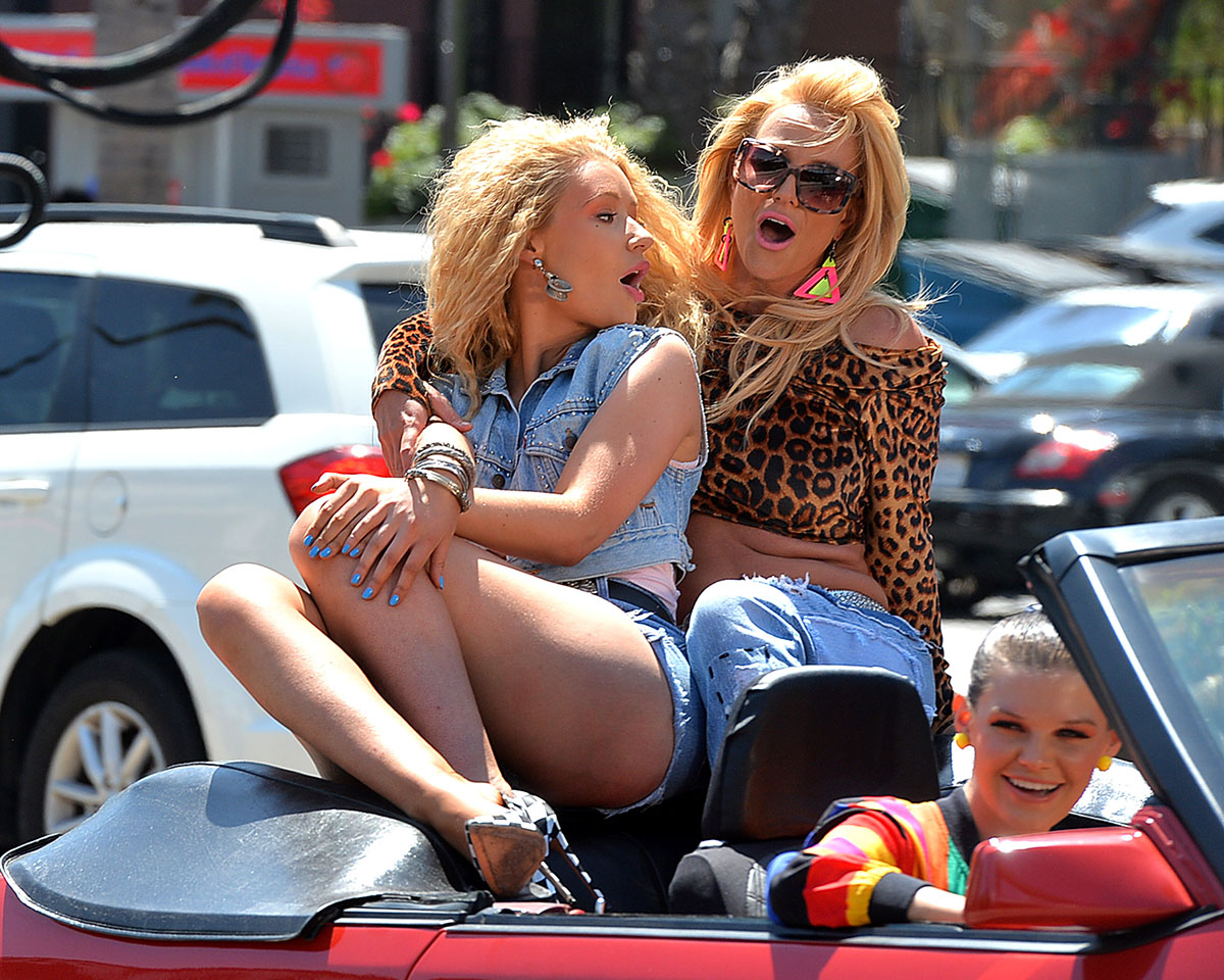"7 Secrets from Britney Spears and Iggy Azalea's ""Pretty Girls"" Video"