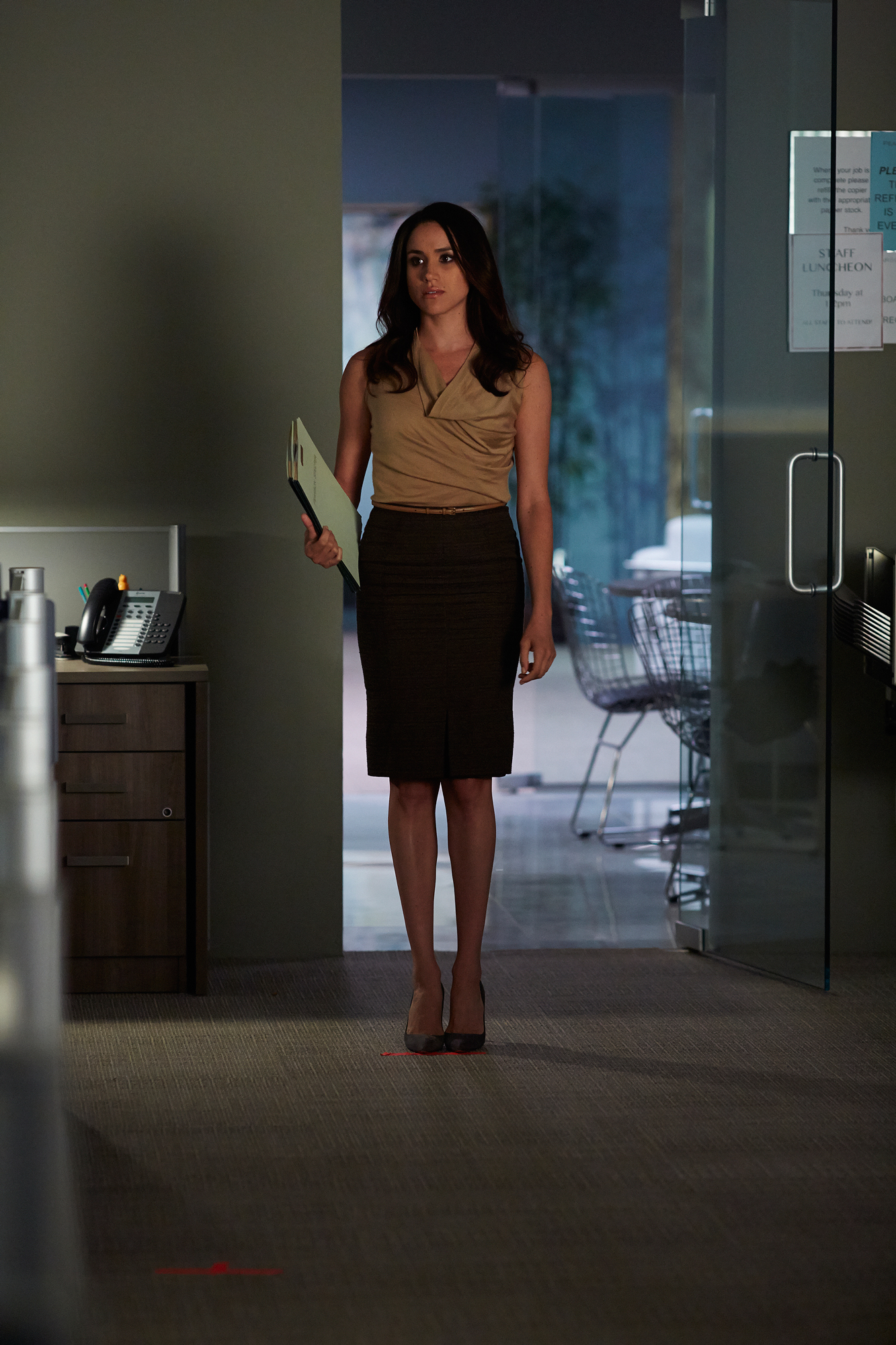 "SUITS -- ""Exposure"" Episode 408 -- Pictured: Meghan Markle as Rachel Zane"