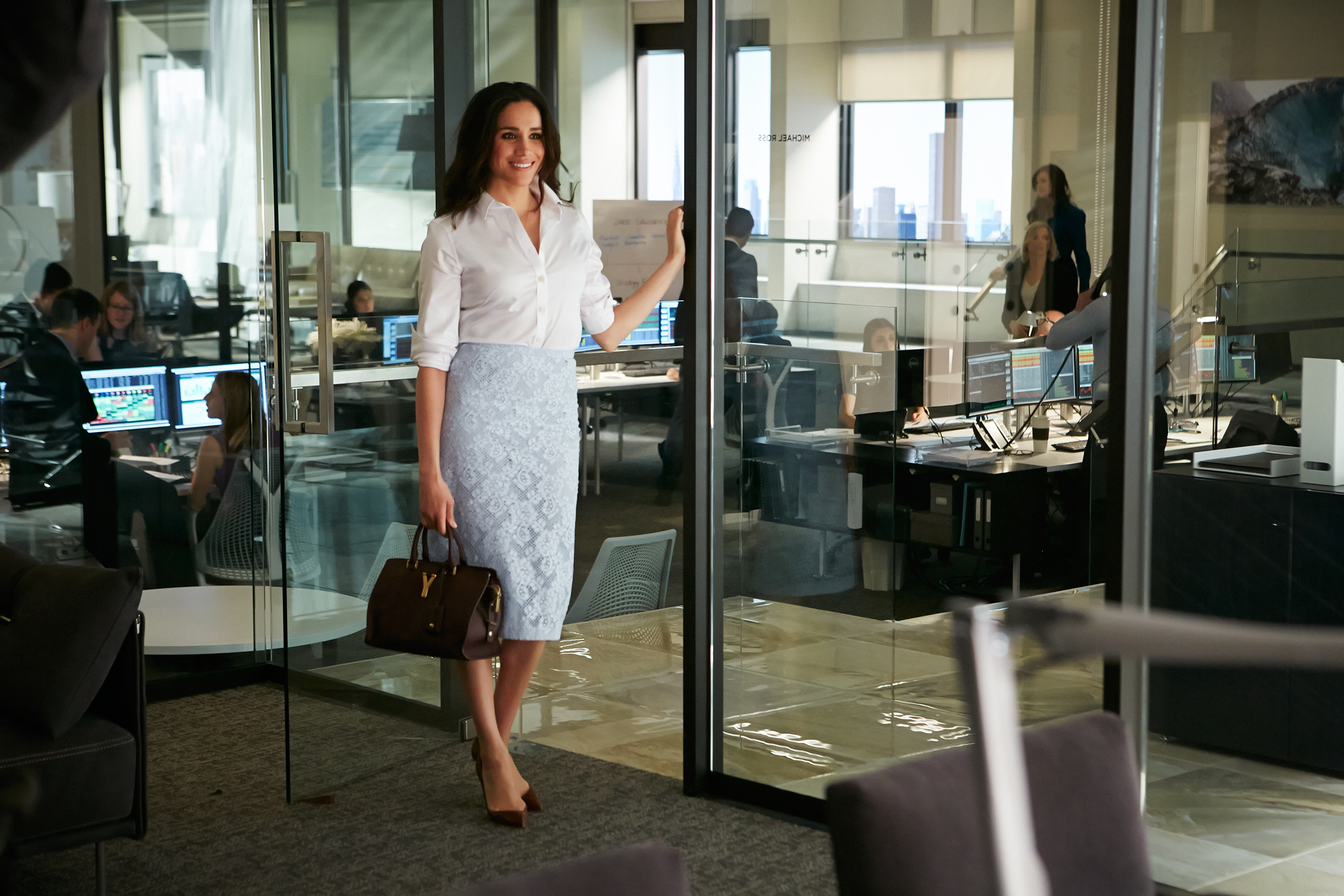 "One-Two-Three-Go..."" Episode 401 -- Pictured: Meghan Markle as Rachel Zane"