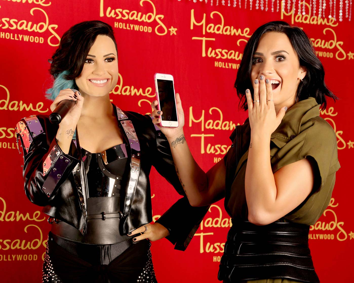 Demi Lovato Is Totally Star Struck by Her Own Wax Figure