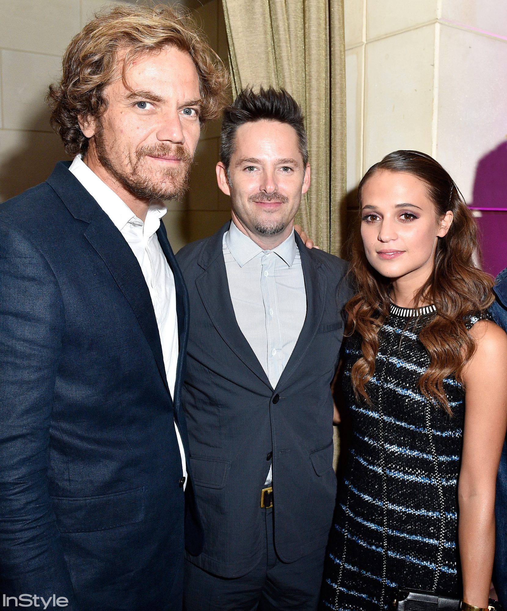 Michael Shannon, Scott Cooper, and Alicia Vikander