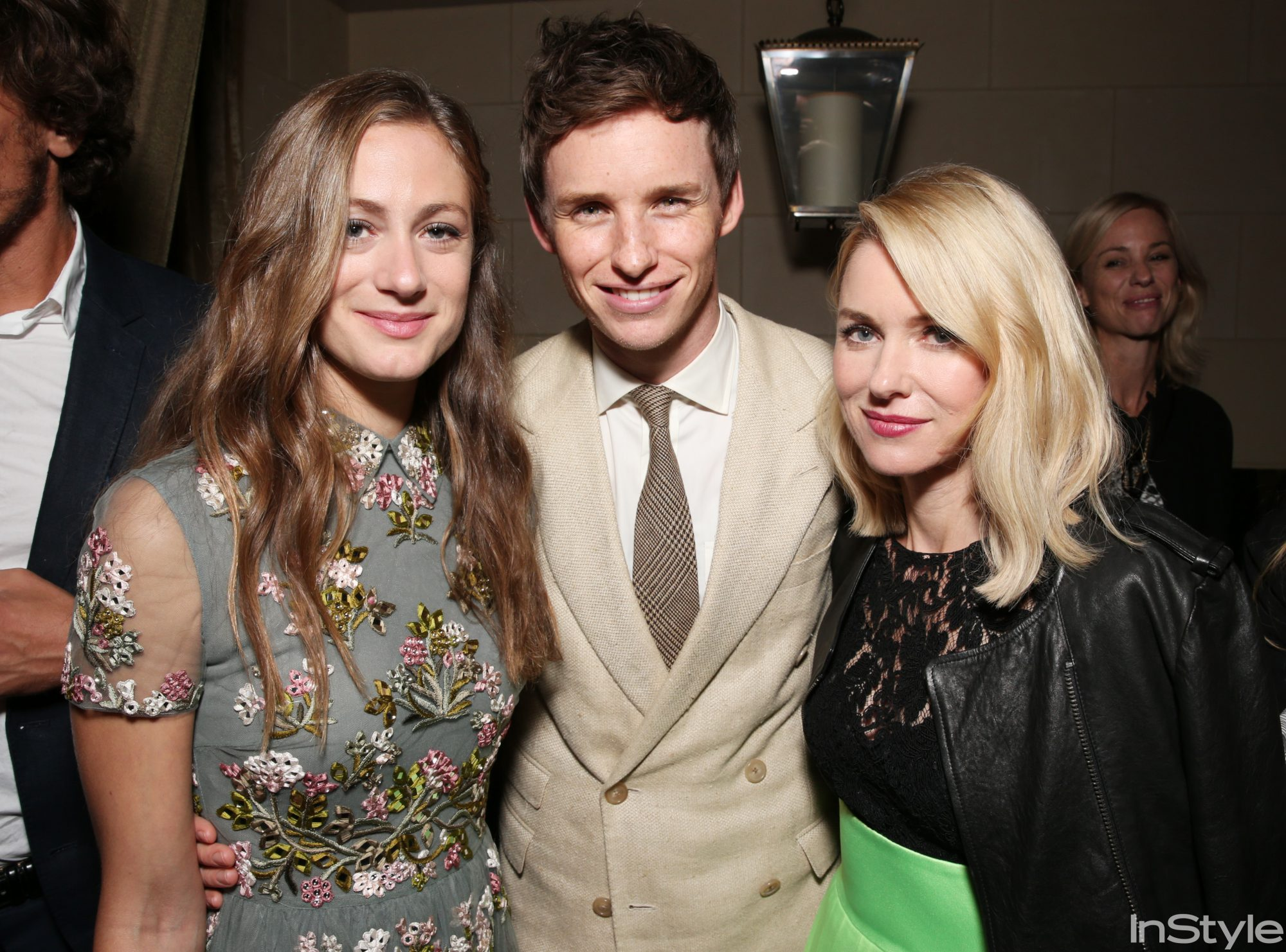 Hannah Bagshawe, Eddie Redmayne and Naomi Watts