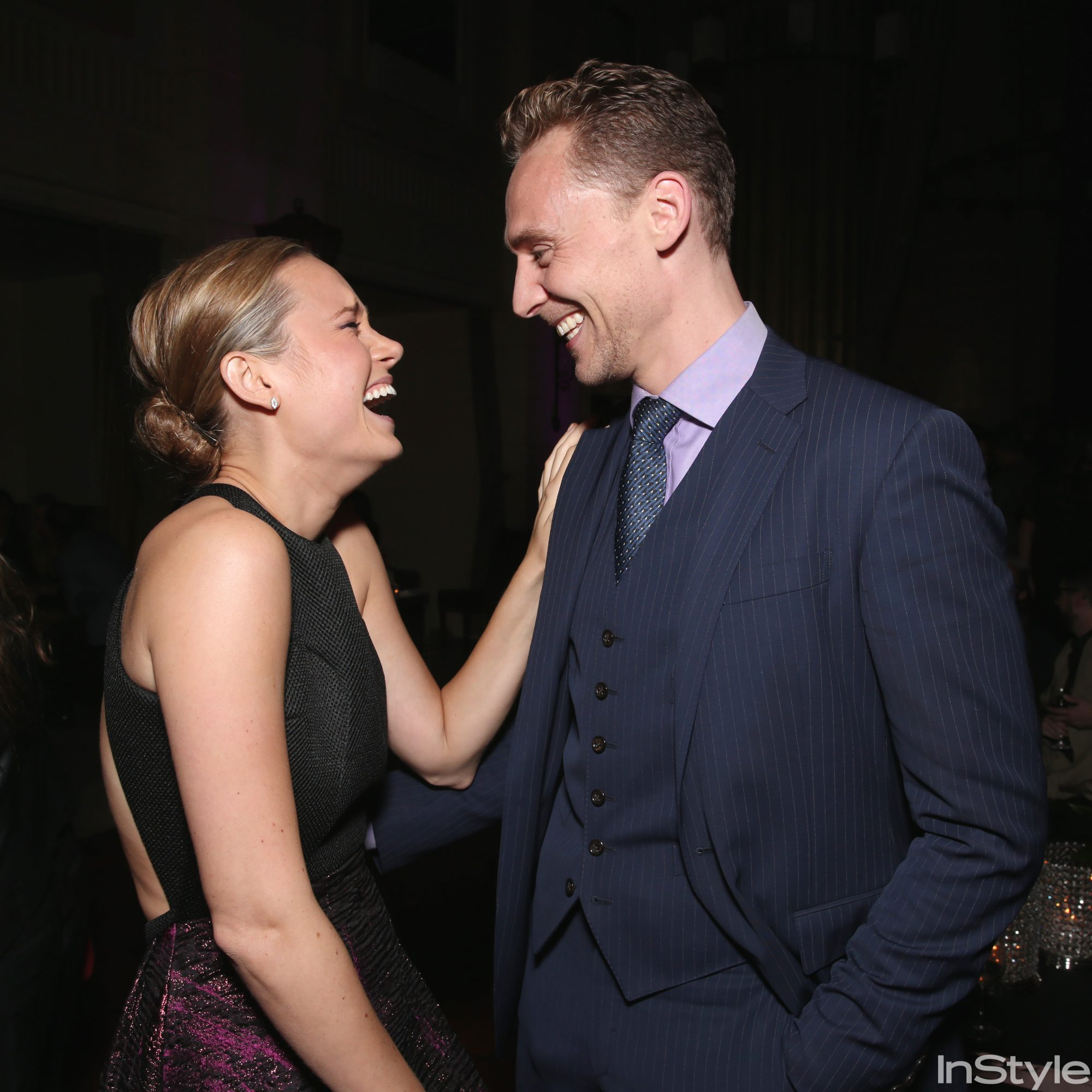 Brie Larson and Tom Hiddleston