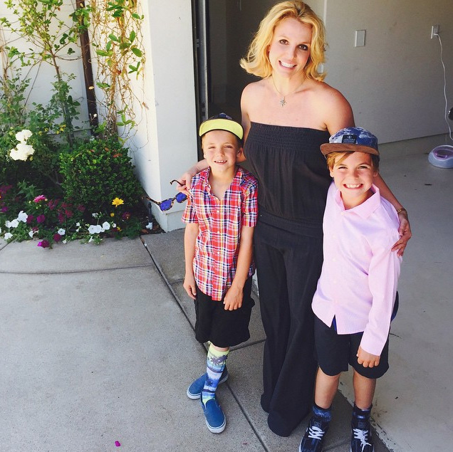 Britney Spears Posts Photos from Her Sons' DJ-Themed Birthday Party