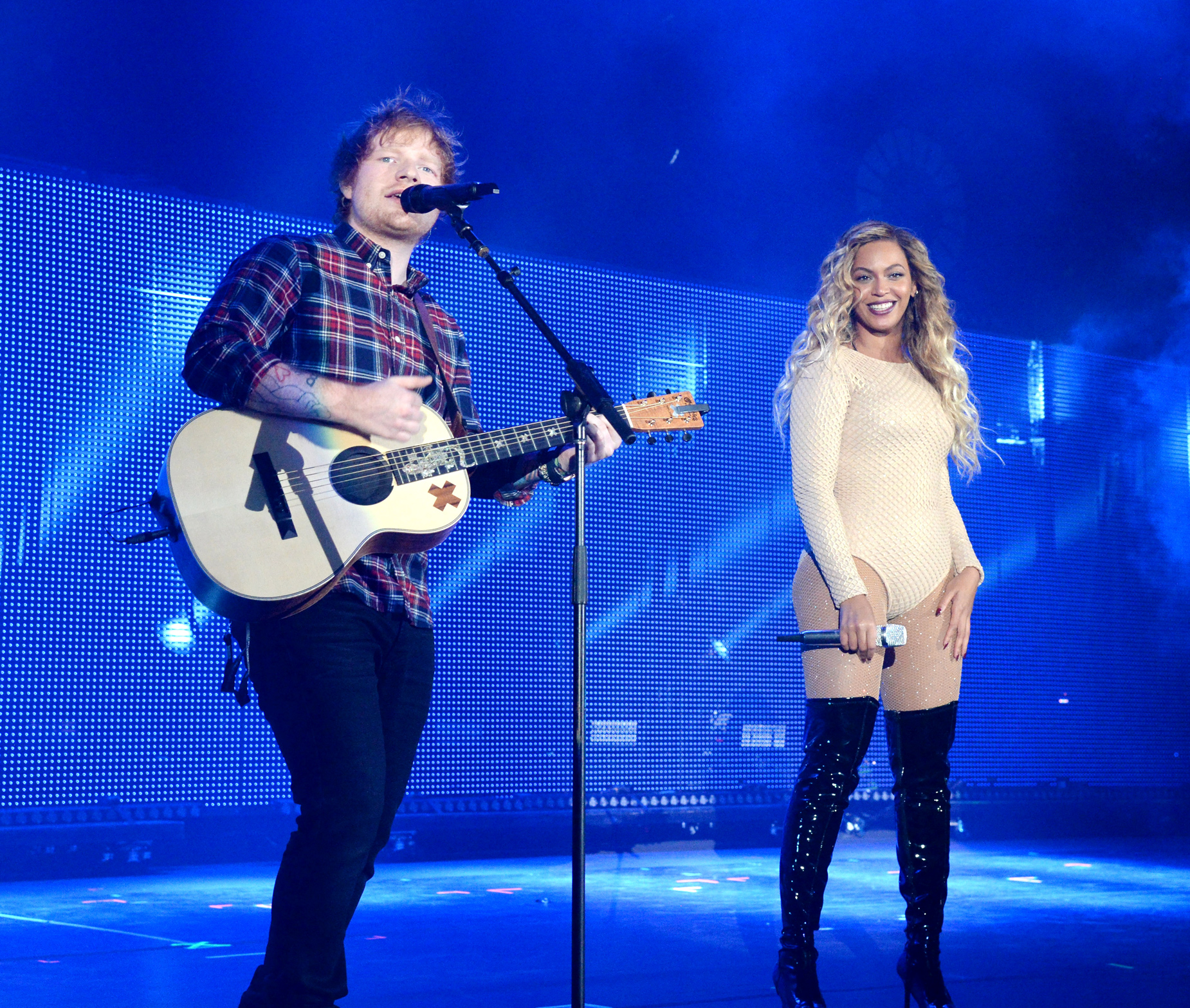 "Ed Sheeran Finally Sings His ""Drunk In Love"" Cover with Beyoncé"