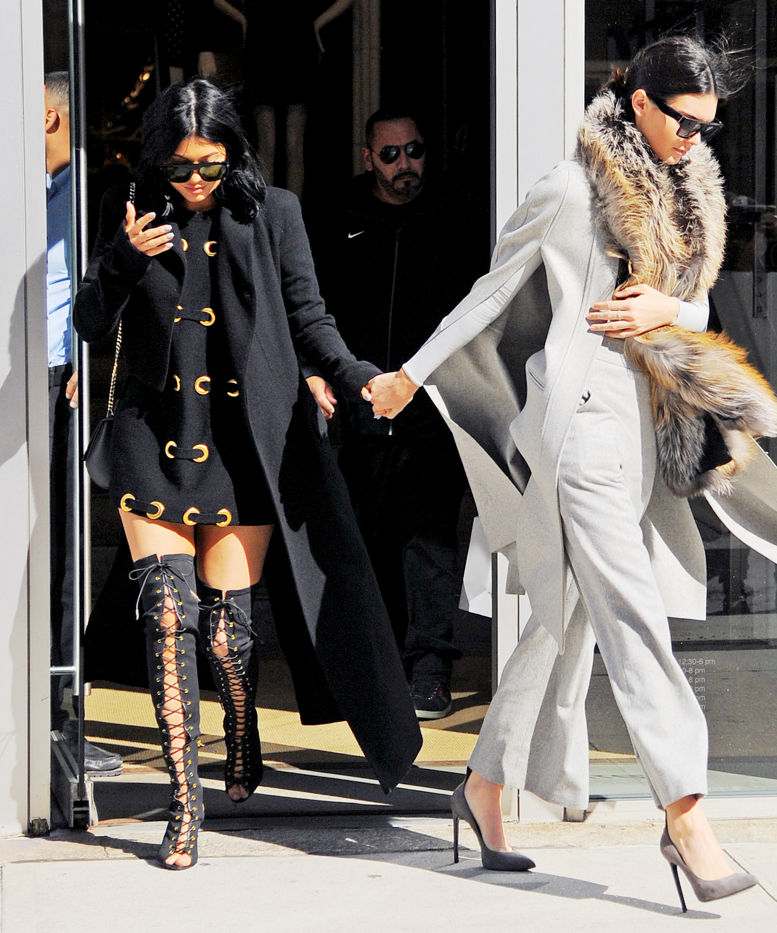 Kendall and Kylie Jenner Present Two Fun Ways to Dress Up a Winter Coat