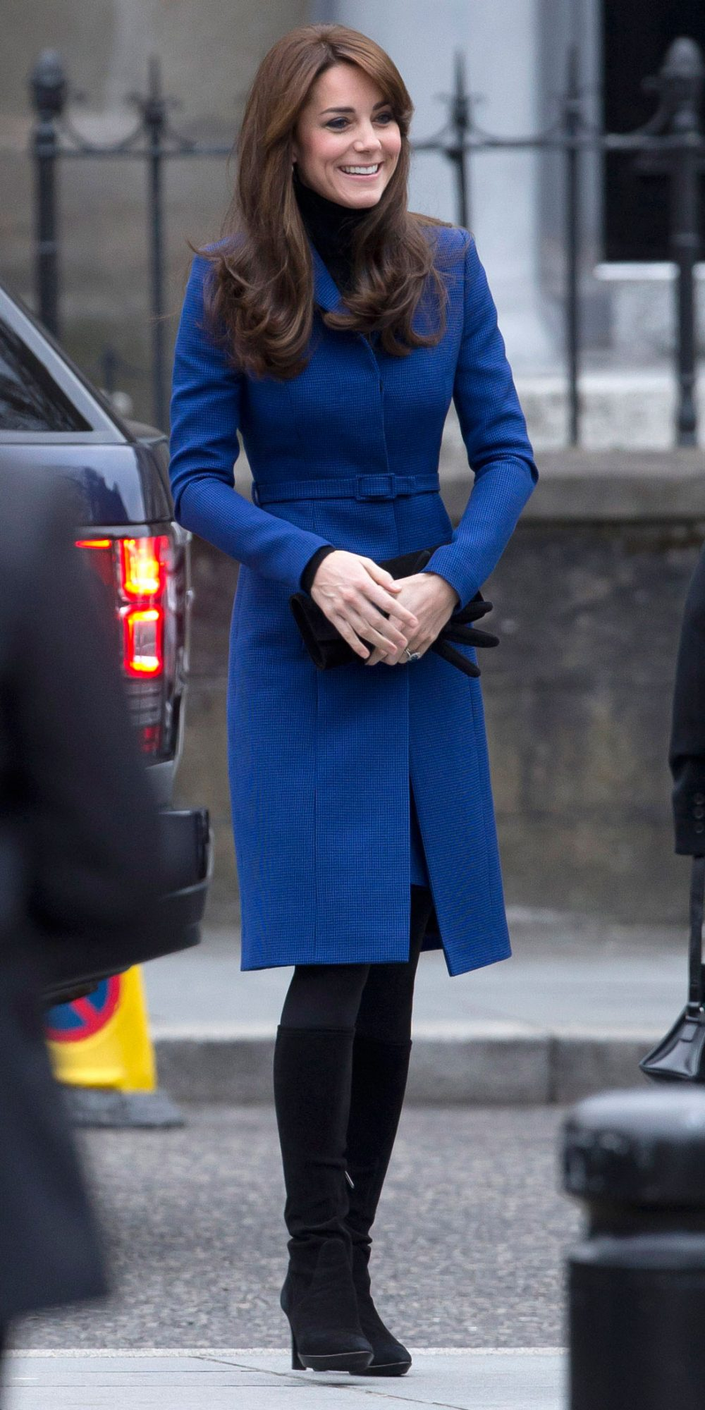 Kate Middleton Looks Cozy in a Fitted Blue Coat During Her Scotland Trip
