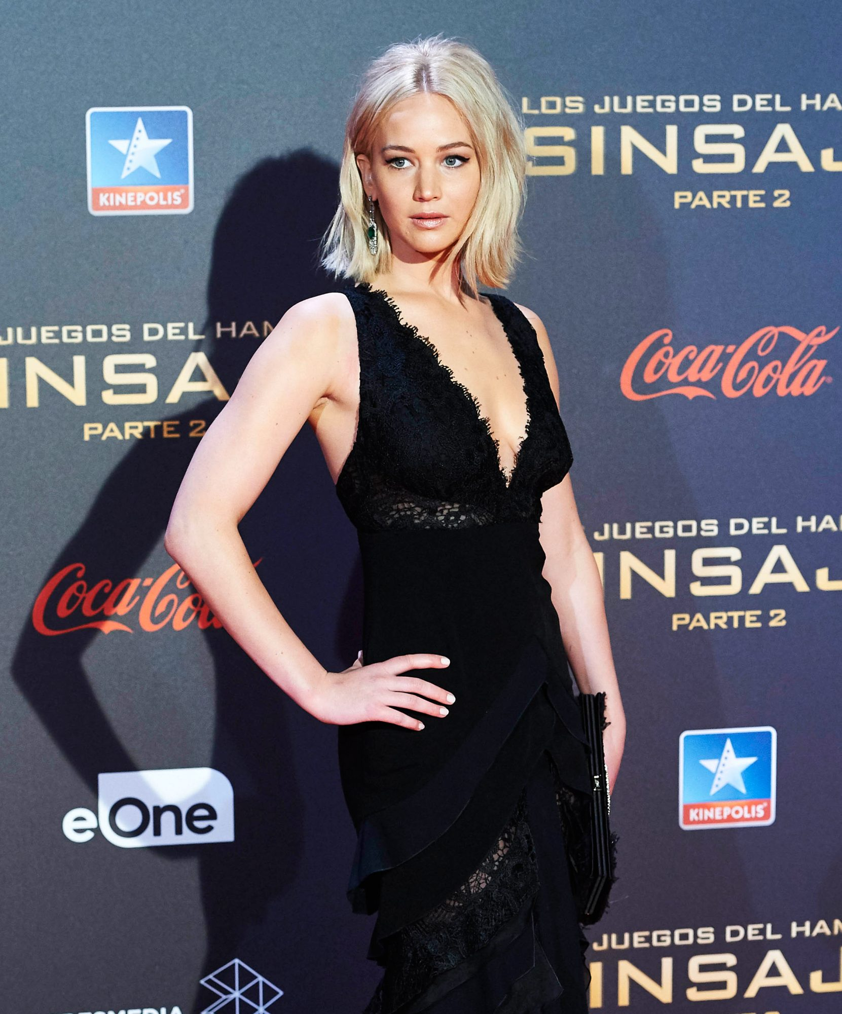 10-11-2015 Premiere Jennifer Lawrence attended the 'Hunger Games: Mockingjay Part 2' Premiere at Kinepolis Cinema in Madrid. (Photo by ddp images) *** Please Use Credit from Credit Field ***