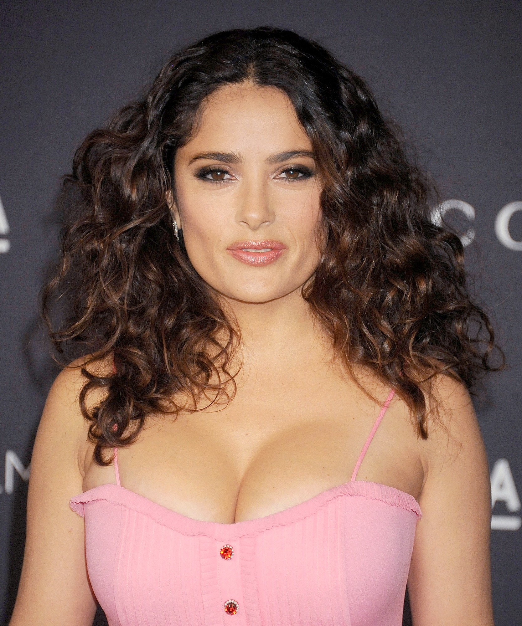 Actress Salma Hayek arrives at the LACMA 2015 Art+Film Gala Honoring James Turrell And Alejandro G Inarritu, Presented By Gucci at LACMA on November 7, 2015 in Los Angeles, California.