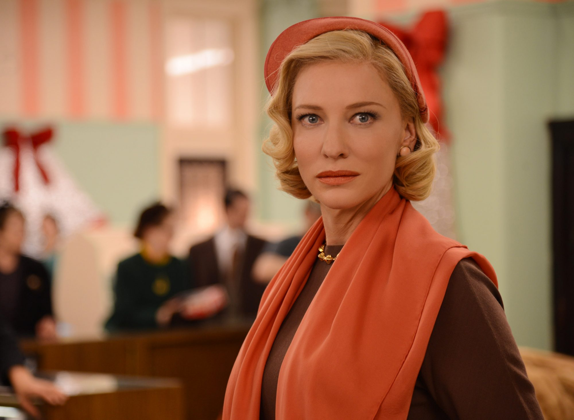 You'll see more scarves on Carol than hats.