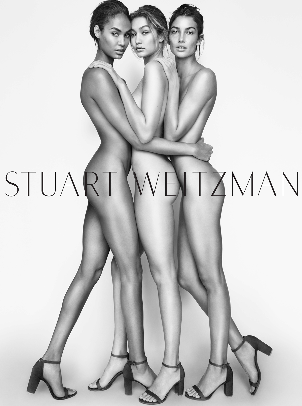 Gigi Hadid, Lily Aldridge, and Joan Smalls Shed All but Their Shoes for New Stuart Weitzman Campaign