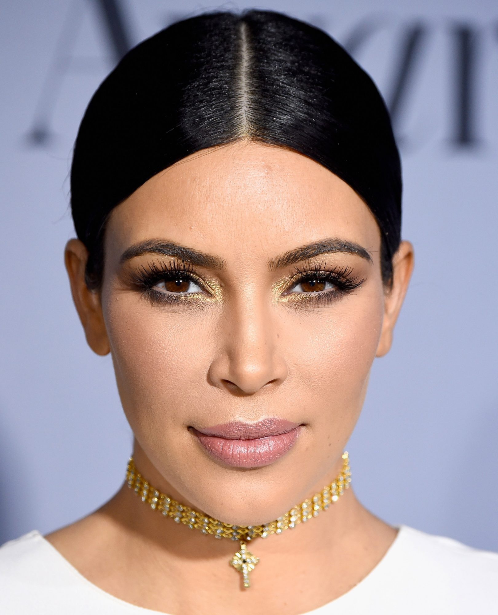 Kim Kardashian's Warm Metallic Eye