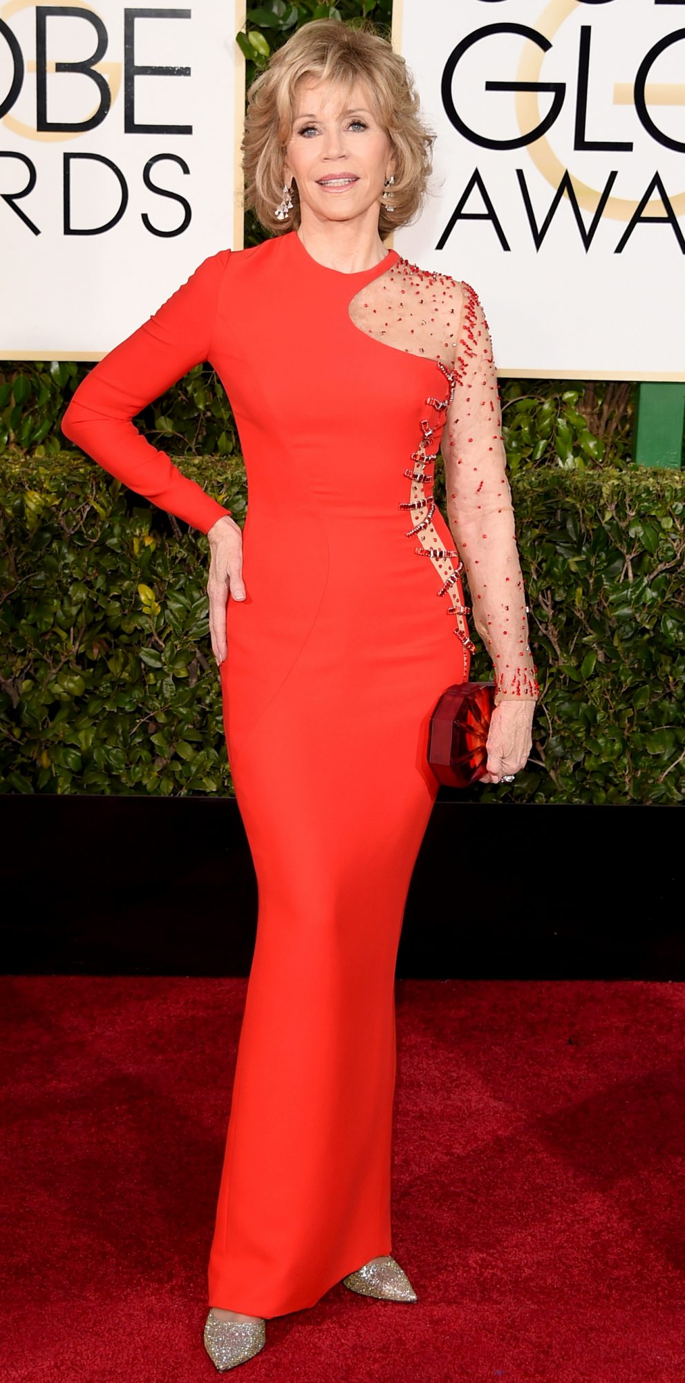 At the Golden Globe Awards
