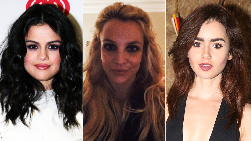 Britney Spears, Selena Gomez, and Lily Collins All Switch Up Their Hair Extensions