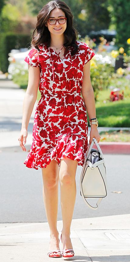 Emmy Rossum in CH Carolina Herrera