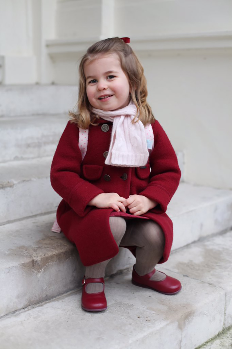 <p>Princess Charlotte Heads Off to Her First Day of Nursery School</p>