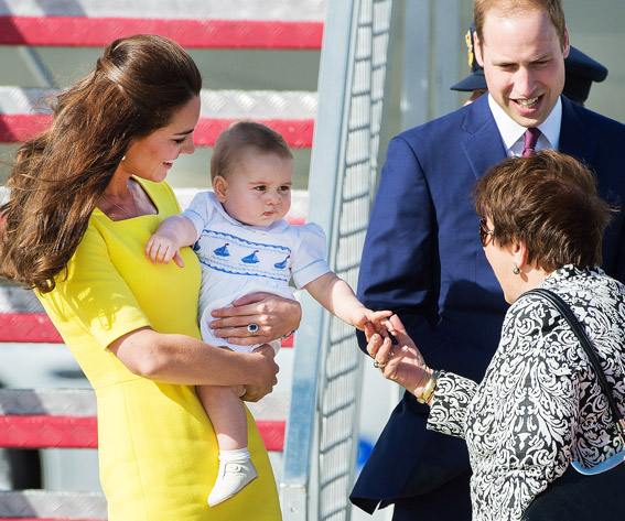 Prince George of Cambridge and Prince William, Duke of Cambridge and Catherine, Duchess of Cambridge