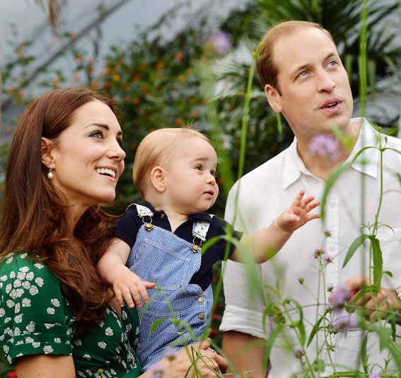 Prince George Spots a Butterfly